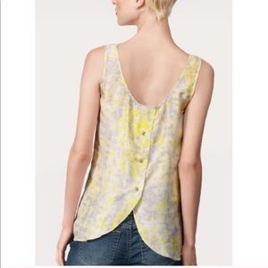 CAbi #811 Whisper silk button back blouse N0424